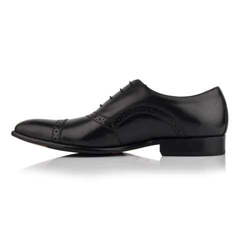 LM412 - Language Pietro Men's Formal Black Oxford Shoes