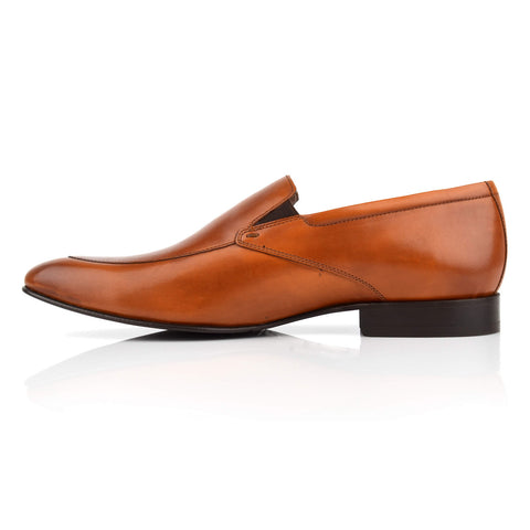 LM430 - Language Piccolo Men's Formal Tan Loafers