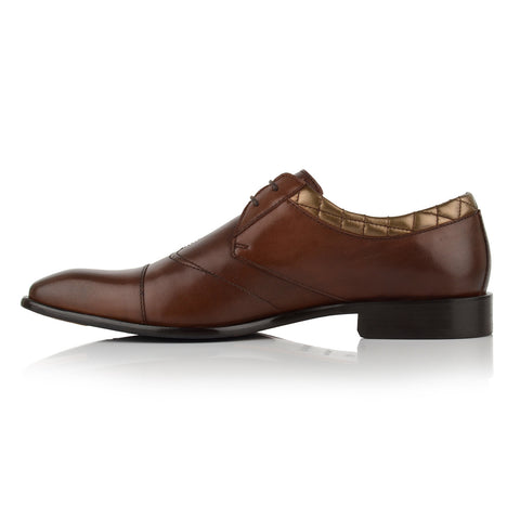 LM532 - Language Delta Men's Dress Brown Derby Shoes