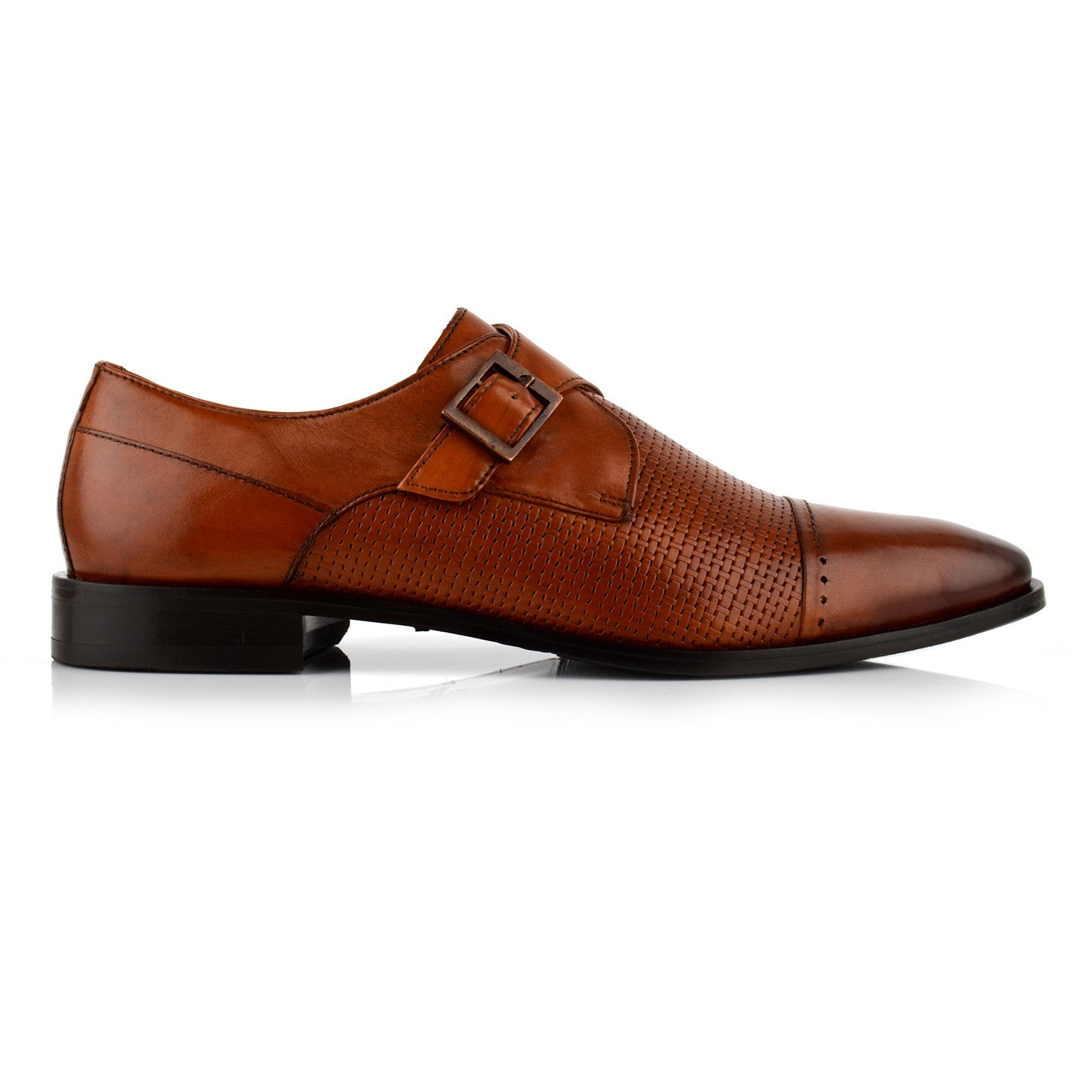 LM540 - Language Sigillo Men's Dress Tan Monk Shoes