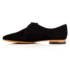 LW111 - Language Derby Shoes Women's Casual Black Derby Shoes