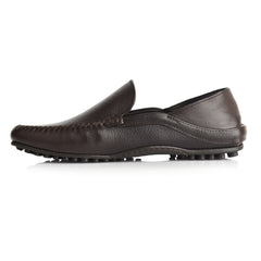 LM595 - Language Men's Troos Dark Brown Casual Moccasin
