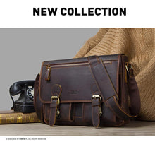 Men's Leather Messenger Bag-Messenger Bag-Online GMall-Brown-China-Online GMall