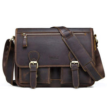 Men's Leather Messenger Bag-Messenger Bag-Online GMall-Coffee-China-Online GMall
