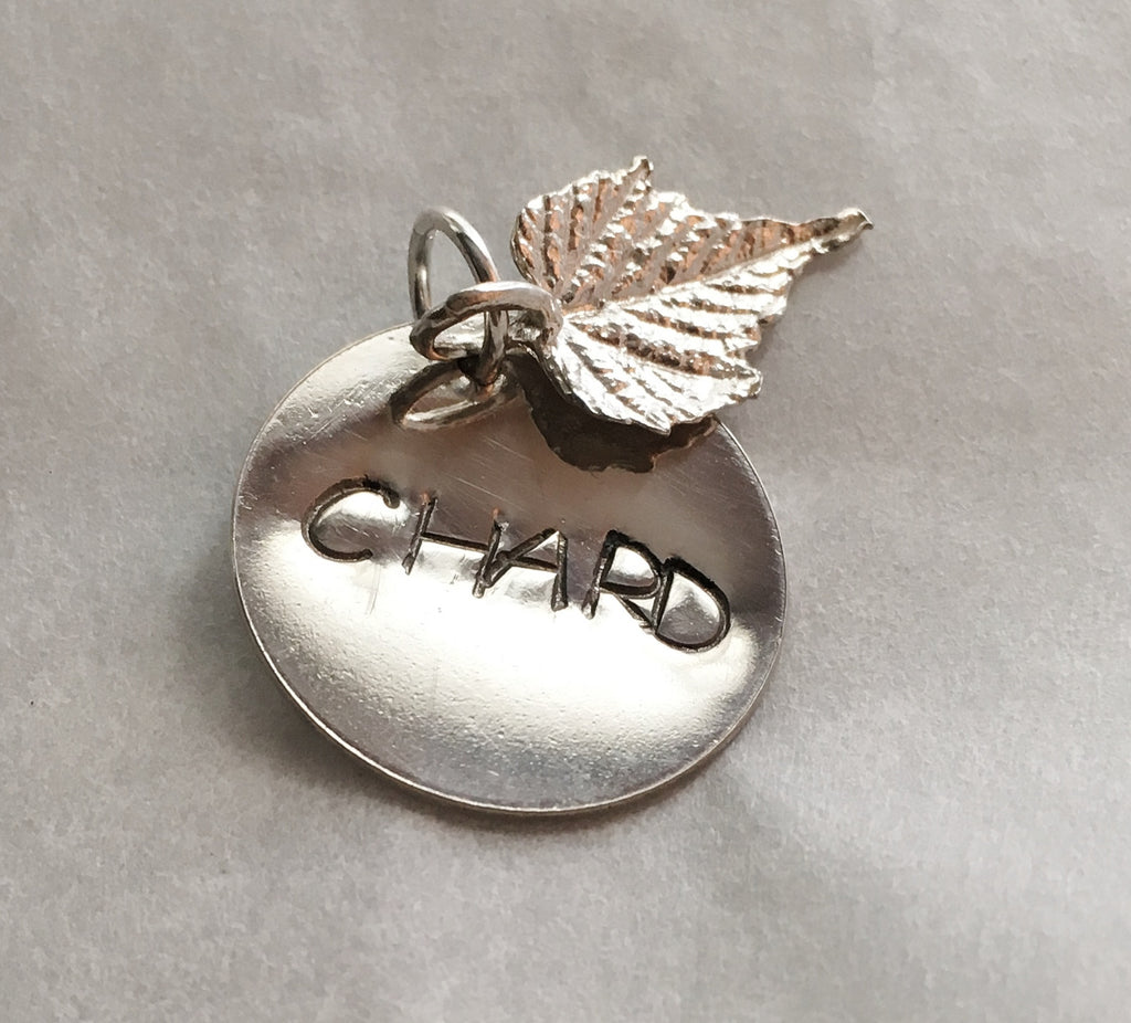 chefjewelry chardonnay wine charm in sterling silver