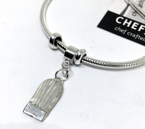 chef toque charm bracelet in sterling silver