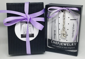Your chef earrings will arrive in custom ChefJewelry packaging