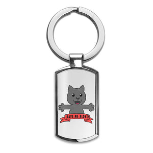 Leave Me Alone Premium Stainless Steel Key Ring| Enjoy A Unique  & Personalized Key Hanger To Carry Your Keys W/ Style| Custom Quality Prints| Household Souvenirs By Styleart