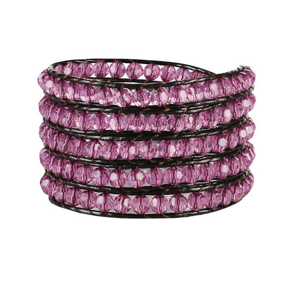 Pink Kitty Wrap Bracelet
