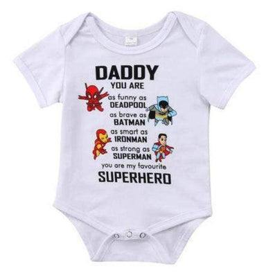 Daddy Is A Superhero Onesie-onesie-Lavendersun