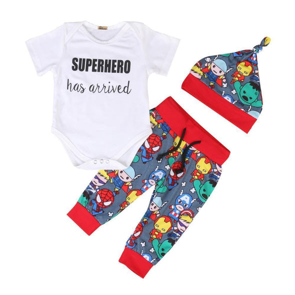 Superhero Has Arrived 3 Piece Set-outfit-Lavendersun