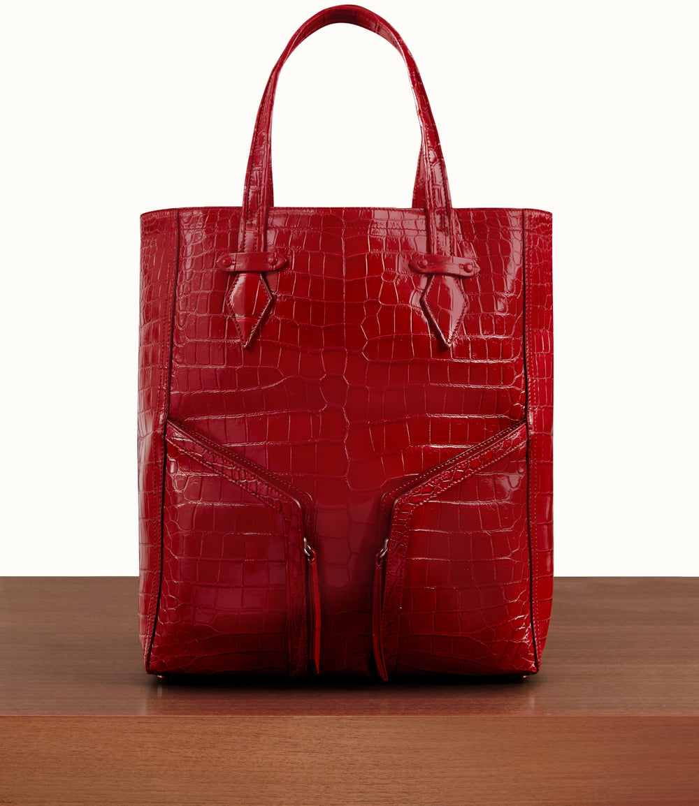 Sergeant All Day Cabas Crocodile Classic Red