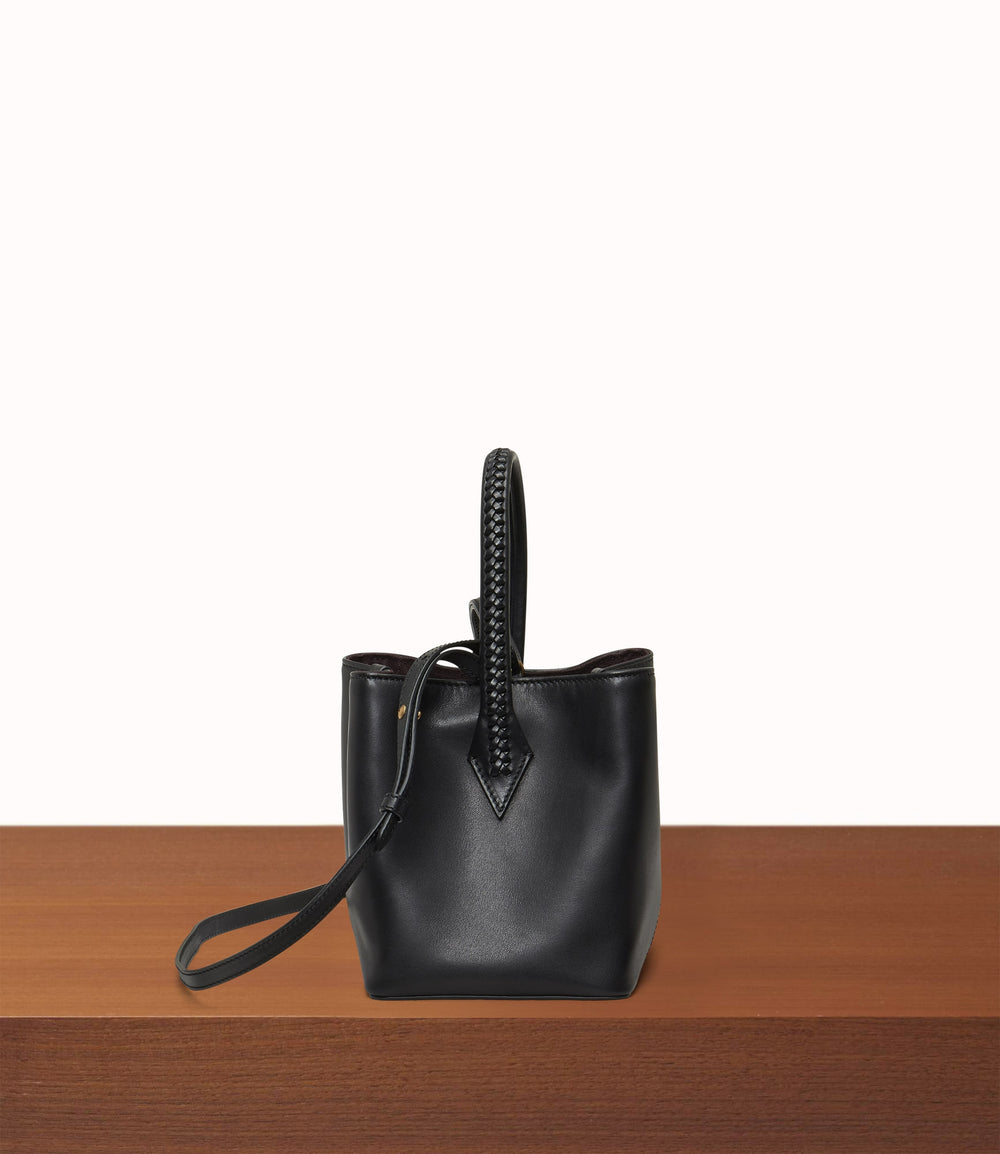 Perriand Mini Collapsible Cabas Atelier Calfskin Black