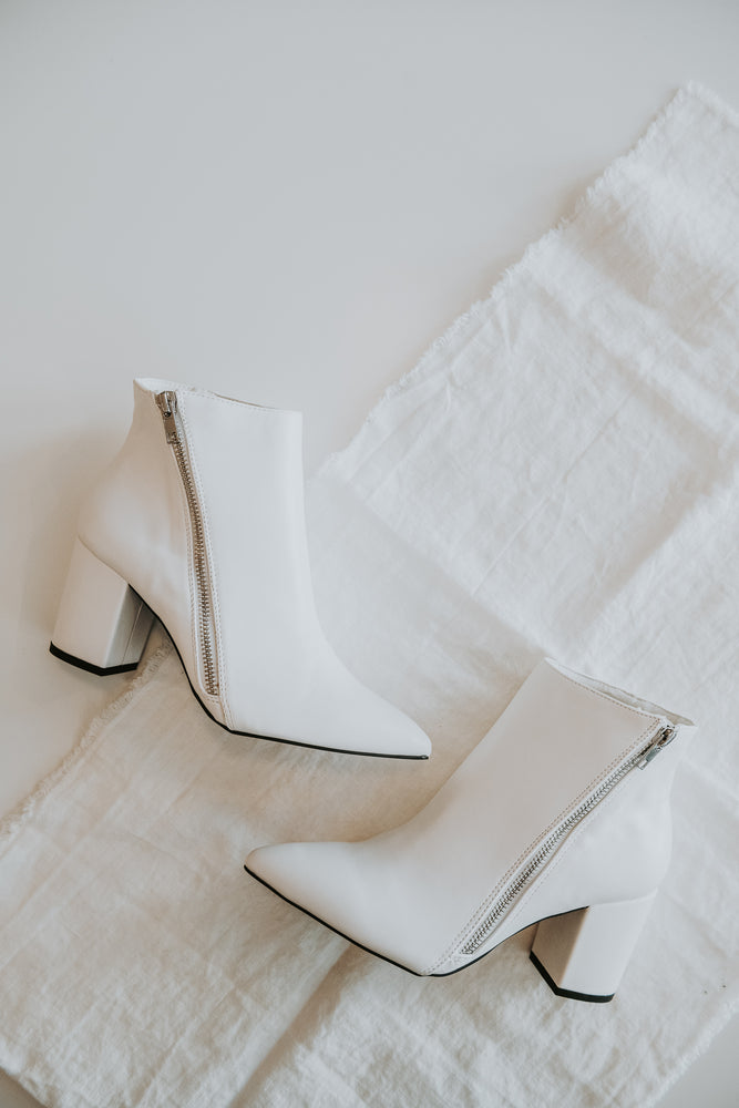 White Glam Booties