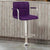 BM131408 Corfu Contemporary Bar Stool With Arm In Purple Pu