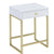 BM157286 Astonishing Side Table, White & Gold