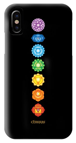 The 7 Chakras On Black - Phone Case