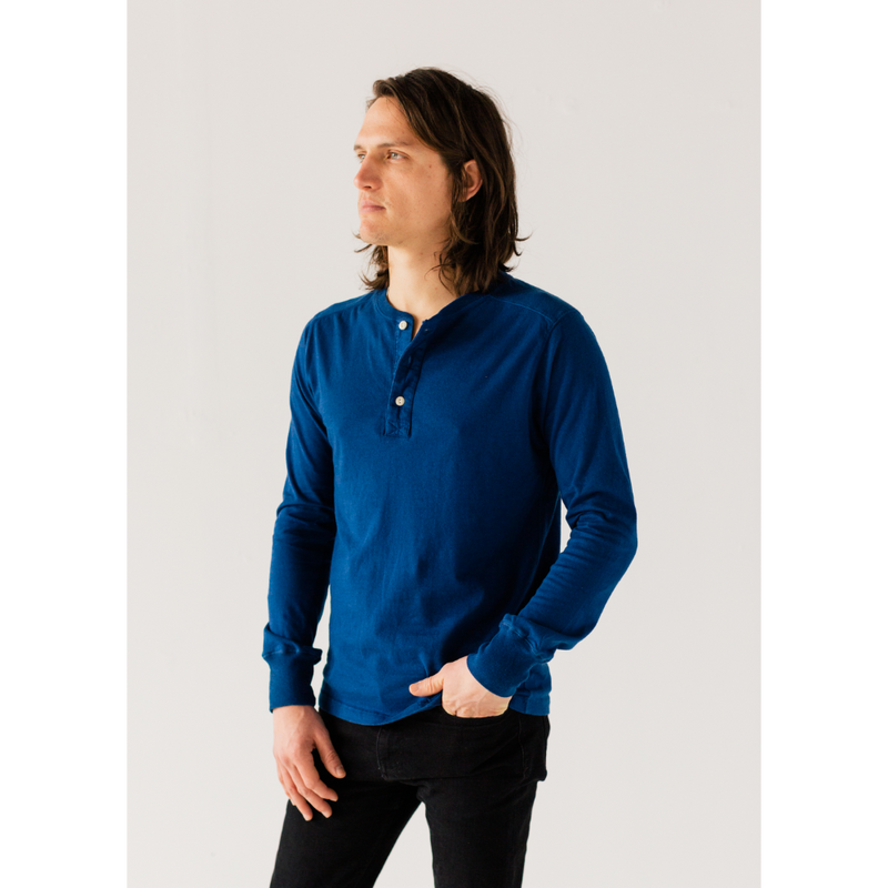 Cobalt Long Sleeve Henley