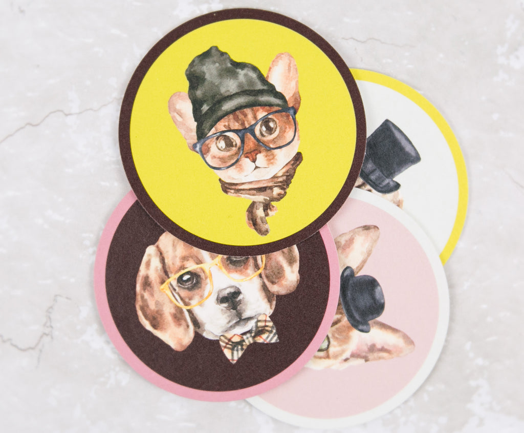 Hipster Animals Coasters (4)