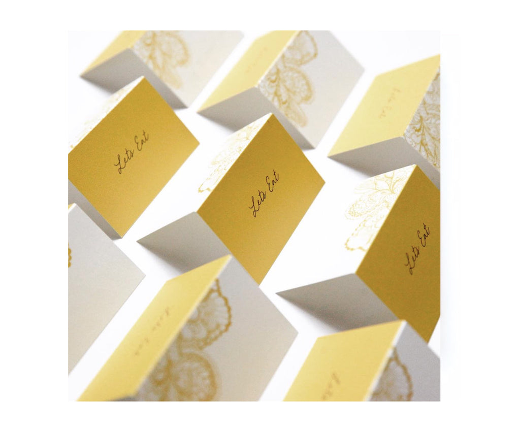 'Lets Eat'  Place Cards