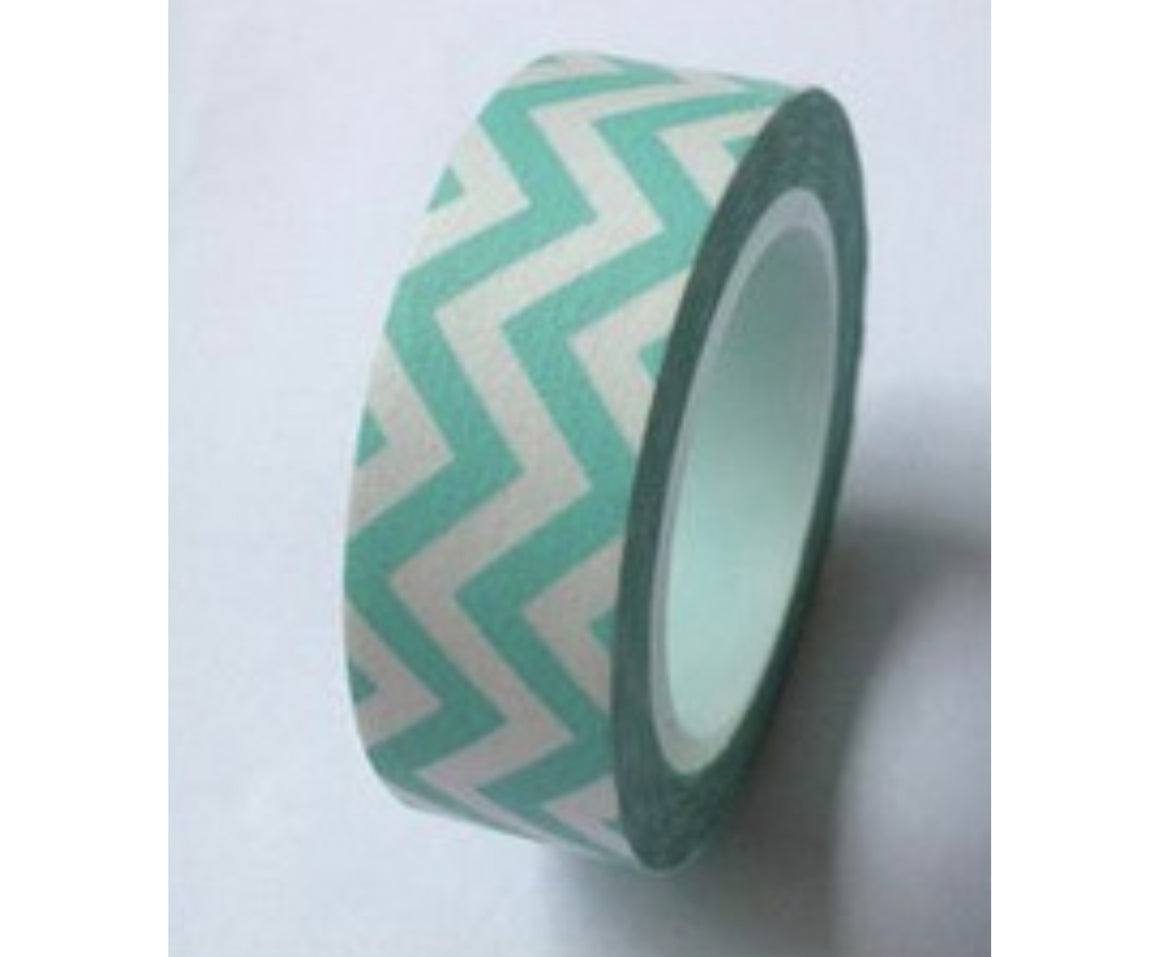 Teal Chevron Washi Tape