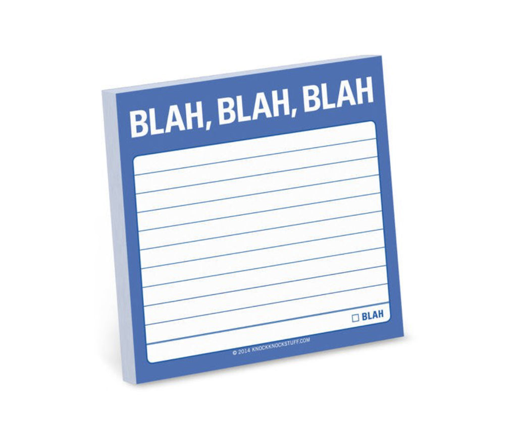 Blah, Blah, Blah Sticky Notes