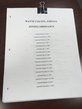 Wayne County Indiana Zoning Ordinance Available Online