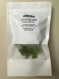 Single serving lettuce Mix - Farmer Brad LLC
