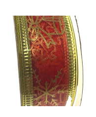 Roll of Red organza Christmas ribbon