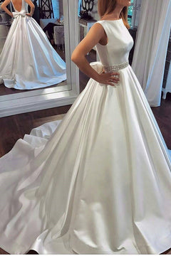 Backless Ball Gown Wedding Dress,Fashion Satin Bridal Dresses, Vestidos de Novia BDS0613