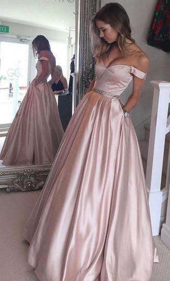 Fashion Off the Shoulder Long Prom Dress ,Party Dress ,Formal Dress, PDS0532
