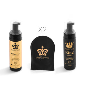 Royalty Society His 'n' Hers Package KING~PRINCESS~MITTS - Royalty Society  - Tan, Spray Tan, Sunless Tan Royalty Society - Melbourne, Australia Royalty Society - Royalty Tanning