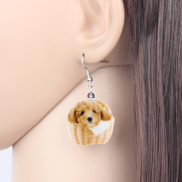 Teddy Poodle Dog Earrings  - Zaida Fashions
