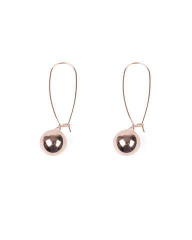 Rose Gold Tone Ball Drop Earrings