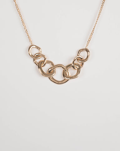 Gold Chunky Linked Chain Necklace