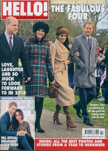 Hello! magazine January 9 2018 Prince Harry & Meghan Markle Kate Middleton