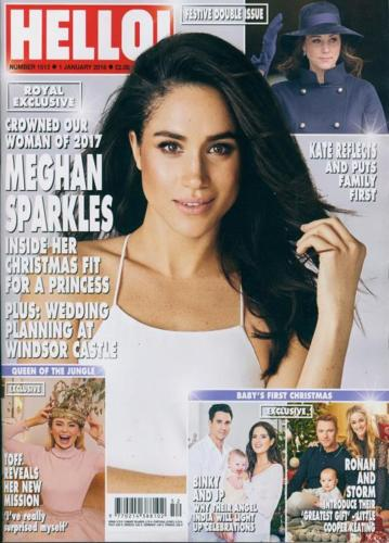HELLO! magazine 1 January 2018 Meghan Markle Kate Middleton Ronan Keating
