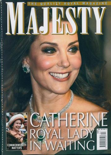 UK Majesty Magazine April 2018 CATHERINE Kate Middleton - Royal Lady In Waiting