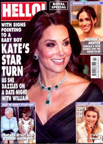 HELLO! magazine 5 March 2018 Kate Middleton Georgia Toffolo Meghan Markle