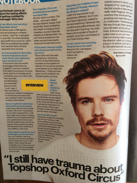 Shortlist Magazine April 10th 2018: JOE DEMPSIE TOBY STEPHENS
