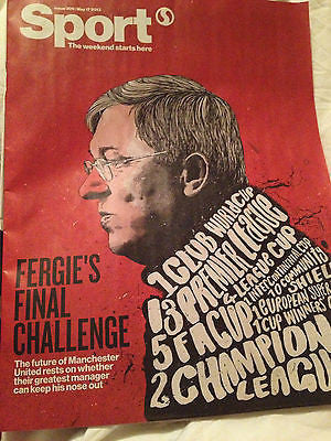 Sir Alex Ferguson's Retirement UK Sport Magazine May 17 2013 Manchester United
