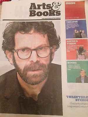 CHARLIE KAUFMAN PHOTO UK COVER INTERVIEW INDEPENDENT  JANUARY 2016