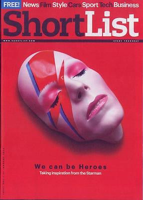 Blackstar DAVID BOWIE Photo Cover Special UK SHORTLIST MAGAZINE JANUARY 2016