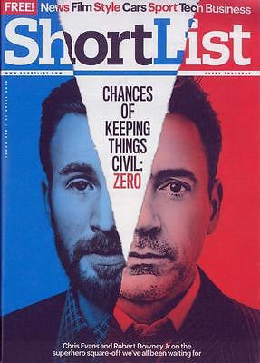 Captain America: Civil War CHRIS EVANS ROBERT DOWNEY JR SHORTLIST MAGAZINE 2016
