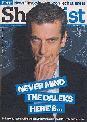 Doctor Who PETER CAPALDI Photo UK Cover interview SHORTLIST MAGAZINE Aug 2014