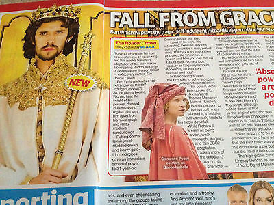 TV CHOICE MAGAZINE 2012 - BEN WHISHAW interview THE HOLLOW CROWN