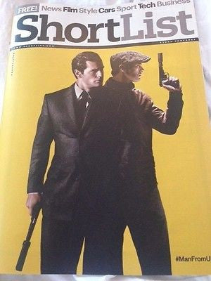 (UK) SHORTLIST MAGAZINE AUGUST 2015 HENRY CAVILL ARMIE HAMMER UNCLE PHOTO COVER