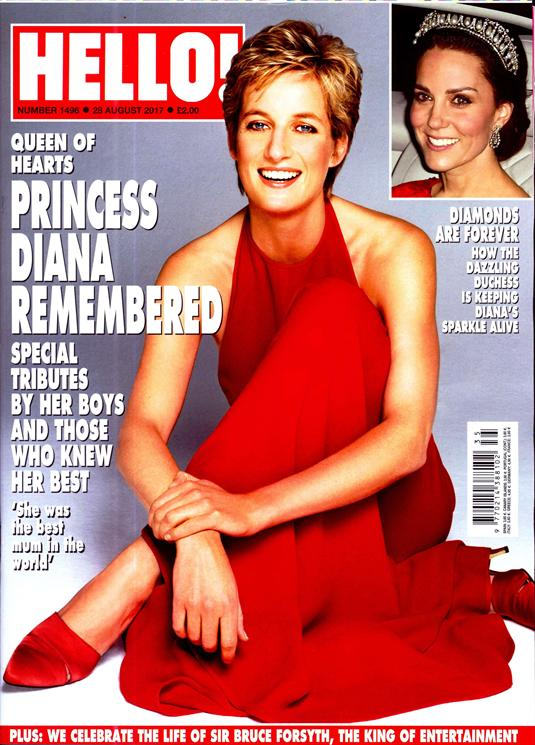HELLO! magazine 28 August 2017 Princess Diana Remembered Kate Middleton