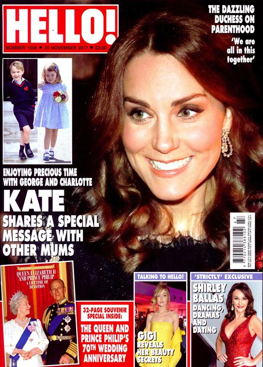 Hello! Magazine November 20 2017 Kate Middleton Queen Elizabeth II 70th Anniversary