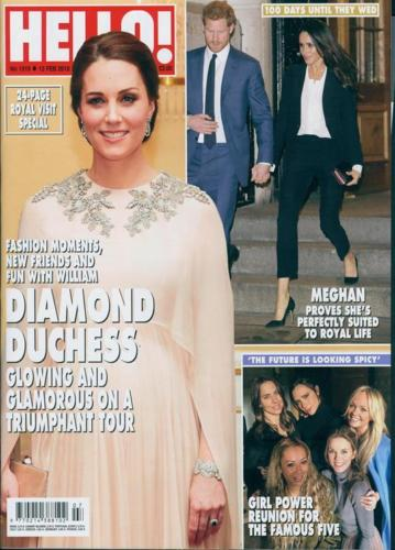 HELLO! magazine 12 February 2018 Kate Middleton Prince Harry Meghan Markle